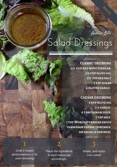 healthy salad dressings.