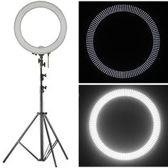 """Amazon.com : Neewer 18"""" LED Ring Light Dimmable for Camera Photo Video, Make Up, Youtube, Portrait and Photography Lighting, Includes(1)Ring Light+(1)9 Feet Heavy Duty Light Stand+(1) Soft & Orange Filter Set : Camera & Photo   @giftryapp"""