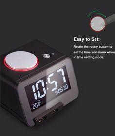 46 best home images alarm clock radio alarm clock bluetooth rh pinterest com
