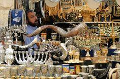 Vendor of Judaica - Mahane Yehuda Market - Jerusalem - Isr…