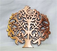 Partridge in a Pear Tree! It's a Trivet! Check out our Online Thrift Boutique! www.dustymustyrescue.com
