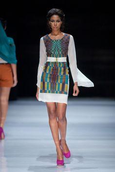 A look from SA Fashion Week. ~Latest African Fashion, African Prints, African fashion styles, African clothing, Nigerian style, Ghanaian fashion, African women dresses, African Bags, African shoes, Nigerian fashion, Ankara, Kitenge, Aso okè, Kenté, brocade. ~DK