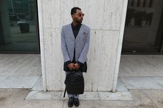 High Quality Manny J Wearing A Tailored Suit By Thread Haus Available At The Gents Closet  In Hollywood
