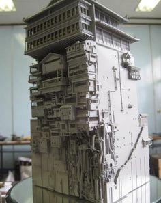 Model of bathhouse Aburaya from Spirited Away - Animation movie