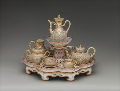 1855-1861 French Sèvres Coffee and tea service at the Metropolitan Museum of Art, New York