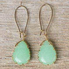 Love these light green earrings