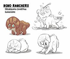 Triceratops_RoughExpression-Poses.jpg (1600×1338)