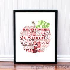 Custom Teacher Print - Teacher Personalized Print - Teacher Retirement Gift – PrintChicks