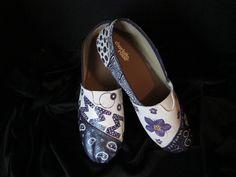 Hand Painted Sorority Shoes. $110.00, via Etsy.