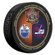 cheap for discount 0b2f2 45b19 2016 Official NHL Heritage Classic Winnipeg Jets Edmonton Oilers Dueling  Puck