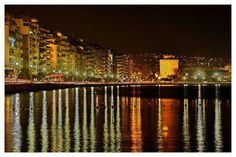 Find images and videos about sea, night and Greece on We Heart It - the app to get lost in what you love. Thessaloniki, Places To See, Places Ive Been, Cultural Capital, World Photo, Paros, Art World, Cool Photos, Amazing Photos