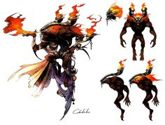 View an image titled 'Ifrit Art' in our Final Fantasy XIII art gallery featuring official character designs, concept art, and promo pictures. Final Fantasy 3, High Fantasy, Fantasy World, Character Concept, Character Art, Concept Art, Character Design, Fantasy Monster, Monster Design