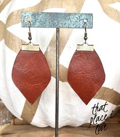 Cut out extra scraps of leather to make simple leather earrings