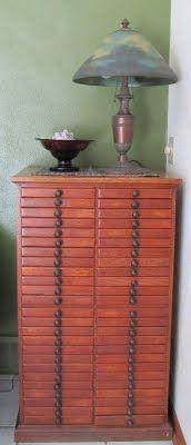 It is an old dental cabinet.