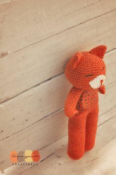 Gato naranja amigurumi by Soniaypuntocreaciones.
