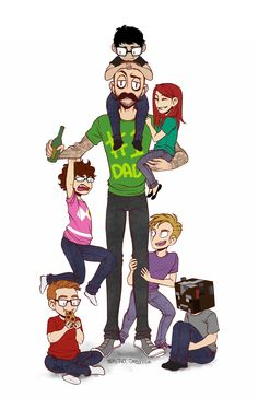 "Rooster Teeth's Geoff Ramsey and the Achievement Hunter ""kids"" by Monstart Amazingphil, Markiplier, Steven Universe, Roosterteeth Rwby, Roster Teeth, Cow Chop, Hunter Kids, Rwby Red, Achievement Hunter"