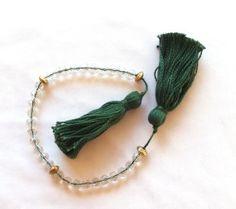 3 Decade Faceted Quartz Medieval Rosary PATERNOSTER SCA Re-enactment LARP Costume