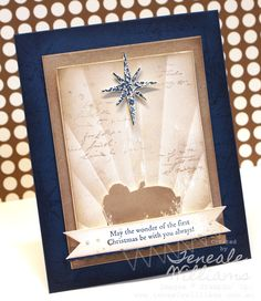 By Teneale Williams, First Christmas Stamp Set. CASE Study DT 116