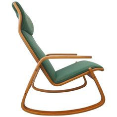 Ingmar Relling for Westnofa of Norway Danish Modern Rocker | From a unique collection of antique and modern rocking chairs at https://www.1stdibs.com/furniture/seating/rocking-chairs/