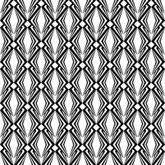 Lozenge Art Deco seamless pattern