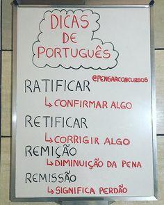 Dica de Português! Anotem a dica e marquem os amigos! ✍🏻📚 Portuguese Lessons, Learn Portuguese, Portuguese Grammar, Study Techniques, Study Organization, Bullet Journal School, School Study Tips, Study Planner, Language Study