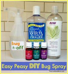 DIY All Natural 'EASY PEASY' Bug Spray Recipe - #youngliving #oilyfamilies