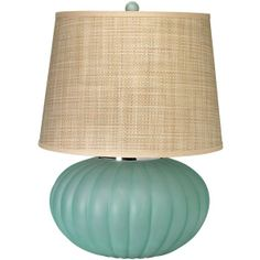 Jamie Young Fluted Ball Sea Glass Table Lamp Base found on Polyvore