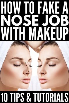 Nose contouring is an important element of each makeup. It's easy to go overboard when you contour your nose, making it look like a brown blob. So if you want to know the best contouring tips to sculpt your nose in the most natural way, keep reading! Eyeshadow Basics, Best Eyeshadow, Mac Cosmetics, Make Up Anleitung, Nose Shapes, Prom Makeup Looks, Makeup 2018, Contour Makeup, Contour Bronzer