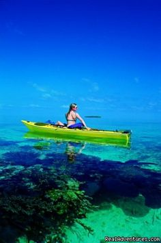 Belize-can't imagine if a pod of dolphins swam by and you were sitting in that boat. It'd be beautiful.