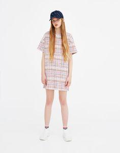 Vestido de punto multicolor - Vestidos - Ropa - Mujer - PULL&BEAR Colombia
