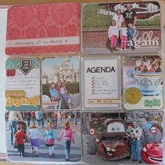 Ideas for Disney Project Life pages