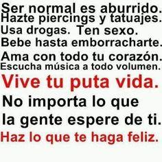 Ser normal aburre