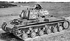 Kliment Voroshilov KV-1 Soviet tank (Russian tank). The KV was a series of Soviet heavy tanks with heavy armour protection, used during World War II. Pictured is the KV-1 model 1940 which was armed a 76-mm L-11 tank gun.