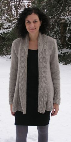 Ravelry: London Bridges Cardigan pattern by Nancy Eiseman knit in Cascade Yarns Ecological Wool® Knit Cardigan Pattern, Sweater Knitting Patterns, Knit Patterns, Sweater Cardigan, Knit Jacket, Vogue Knitting, Pulls, Knitwear, Knit Crochet