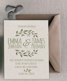Printable Earth tone wedding invitation