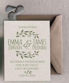 Printable Earth tone wedding invitation