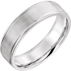 51416 / 14kt White / 13 / 6mm Duo Grooved Design Band