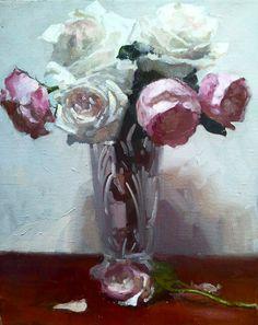 "Dennis Perrin ""Roses in Victorian Vase"""