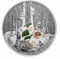 Pure Silver Coin - Spirit of Canada Canadian Coins, Canadian History, Old Coins, Rare Coins, Woodland Elf, Keepsake Crafts, Best Christmas Gifts, Money Matters, Coin Collecting