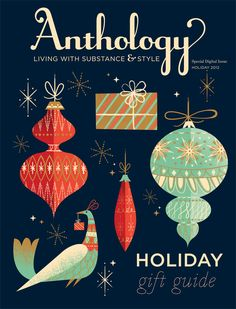 #papercraft #inspiration - this could be a future cover for our #MagazineMondays #papercrafting challenge. Have a cover or magazine layout you want to share? Let's see it! (anthology holiday gift guide 2012 | cover by lab partners)