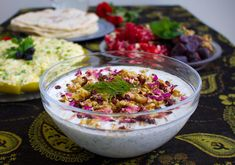 Mast o khiar- Persisk Tzatsiki Mediterranean Dishes, Acai Bowl, Catering, Cabbage, Salads, Vegetables, Cooking, Breakfast, Kitchen
