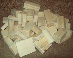 Homemade wooden blocks