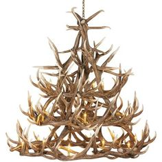 Cabela's 30-Antler Reproduction Elk Chandelier at Cabela's