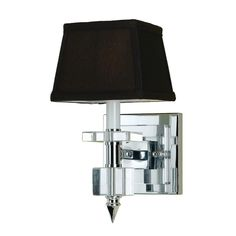 AF Lighting Modern Sconce Wall Light with Brown Shade in Chrome Finish | 6762-1W | Destination Lighting