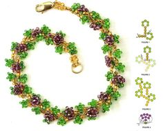 Picture is total of post - looks like spring.  Shall we call it grapes, wisteria...or....?   #Seed #Bead #Tutorials