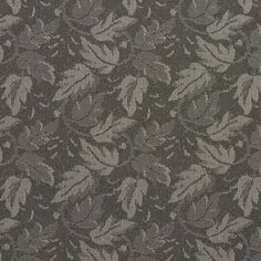 Grey Leaves Crypton Contract Grade Upholstery Fabric By The Yard