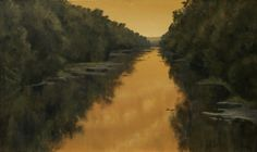 """""""Yacona River"""" by John Dean, Acrylic on stretched canvas,  24"""" x 40"""""""