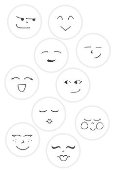 Dotee Faces - - Found this page in one of my older sketchbooks of DoteeDoll faces. Feel free to use these to embroider your own Dotee faces! Wood Peg Dolls, Clothespin Dolls, Doll Crafts, Diy Doll, Fabric Dolls, Paper Dolls, Wooden Pegs, Doll Face, Doll Eyes