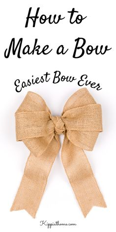 Diy Ribbon, Ribbon Bows, Burlap Bows, Ribbons, Making Bows For Wreaths, Bow For Wreath, Making A Bow, Diy Wreath, Christmas Bows
