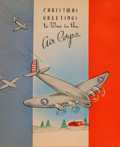 christmas vintage wwii greeting card vintage christmas